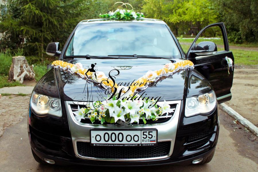 Украшение на машину на свадьбу омск